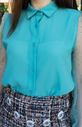 """Риза с буфан ръкави """"Il mare"""""""