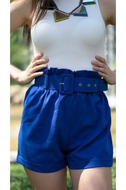 """Елегантни къси панталони с колан """"Blue"""""""