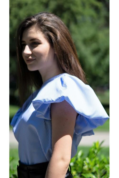 """Риза с волани на райе """"Melissa"""""""