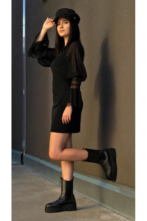 """Рокля с тюлени ръкави """"Little black dress"""""""