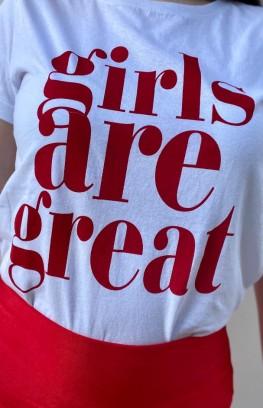 """Тениска с надпис """"Girls"""""""