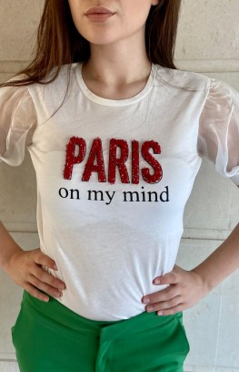 """Тениска с буфан ръкави """"Париж"""""""