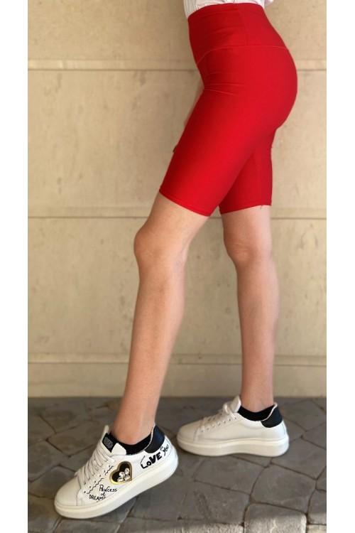 Къс спортен клин в червен цвят