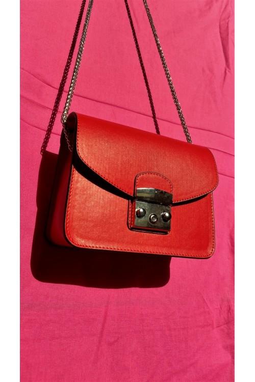 """Малка чанта в червен цвят """"Fragolina"""""""