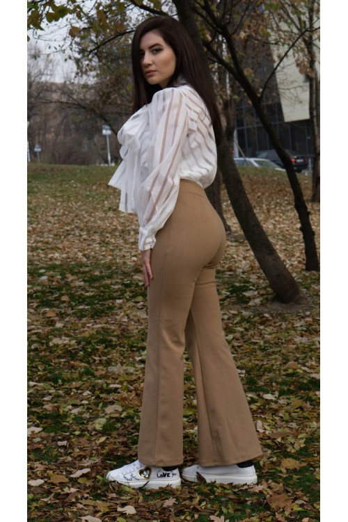 "Панталон с широки крачоли ""Beige"""