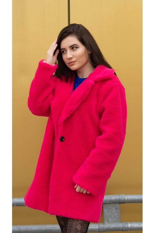 "Пухено розово палто ""Dolce vita"""