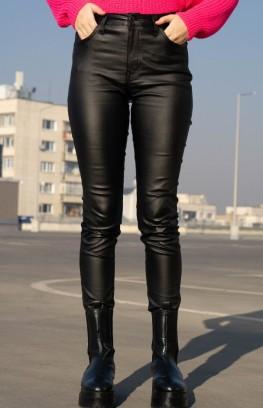 """Кожен панталон с висока талия """"Black"""""""