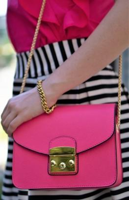 """Дамска чанта в бонбонено розово """"Barbie"""""""