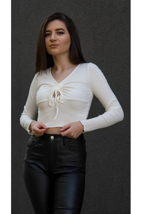 """Къса блуза с дълъг ръкав """"Ariana"""""""